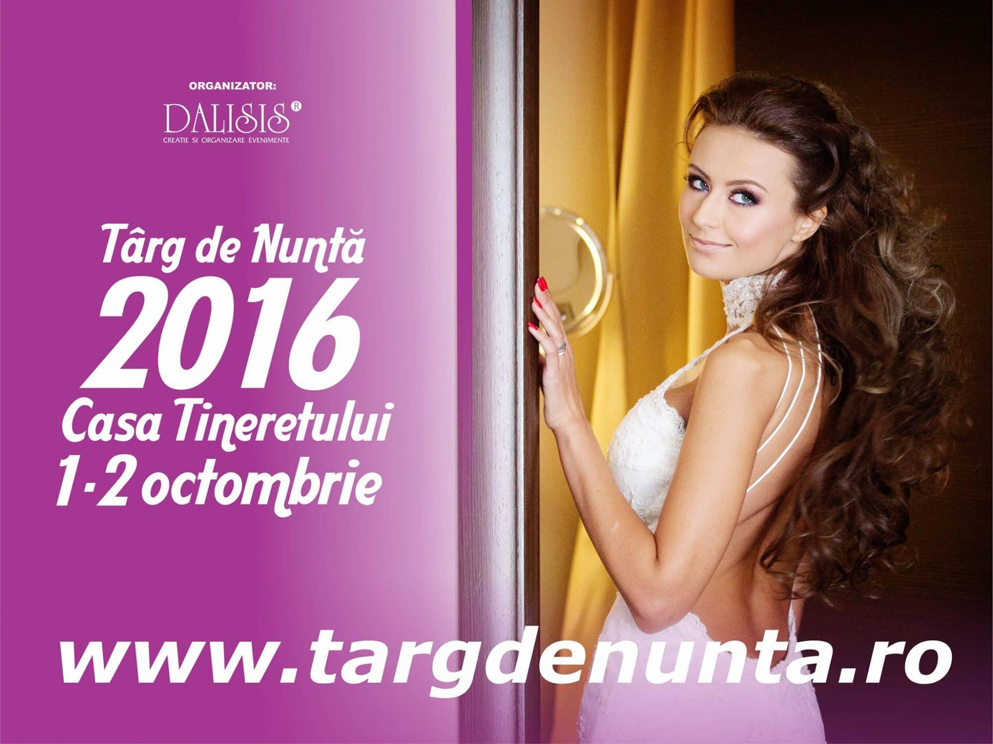 - Timișoara: Târg de Nuntă Dalisis - 1-2 Octombrie 2016
